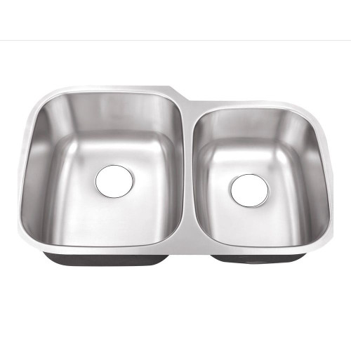 Rocket Supply 60/40 Double Bowl Stainless Steel Sink - 18 Gauge