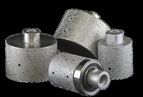 "Diamond Tool Supply Brazed Drum w/bearing Guide -200 grit - 3"" X 1.5"""