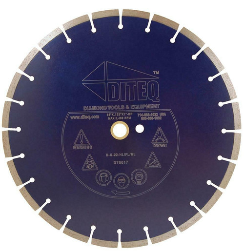 Diteq U-22 General Purpose Blade Cured Concrete/Brick/Block - Rocket Supply - Concrete and Stone Tool Supply Store