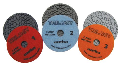 Weha Trilogy Diamond Polishing Pads - 3 Step - 4 Inch