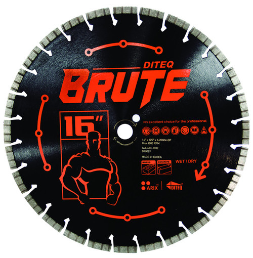 DITEQ BRUTE Masonry & Concrete Saw Blades - Rocket Supply - Concrete and Stone Tool Supply Store