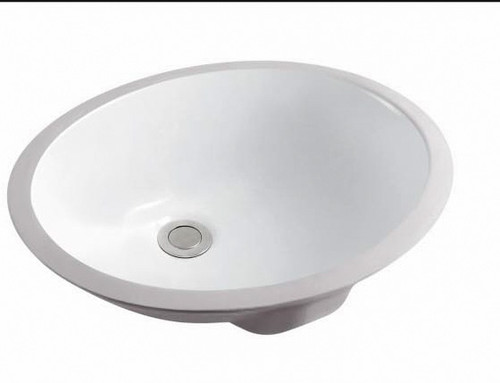 Rocket Sink White Vanity Oval Shape - 16 X 13 Inches