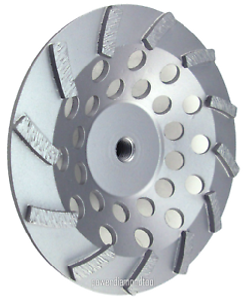 """7"""" 12 Segment Spiral Cup Wheel - Rocket Supply - Concrete and Stone Tool Supply Store"""