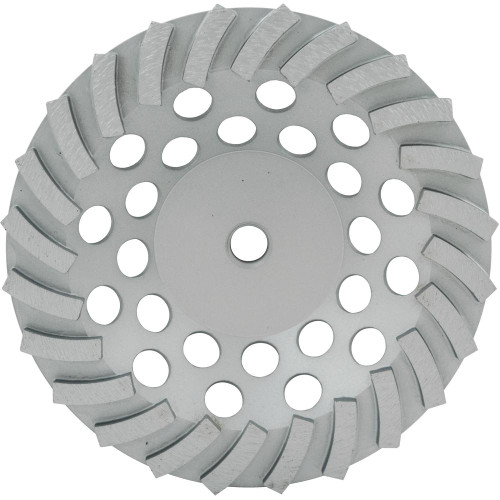 "7"" 24 Segmented Spiral Cup Wheel - Rocket Supply - Concrete and Stone Tool Supply Store"