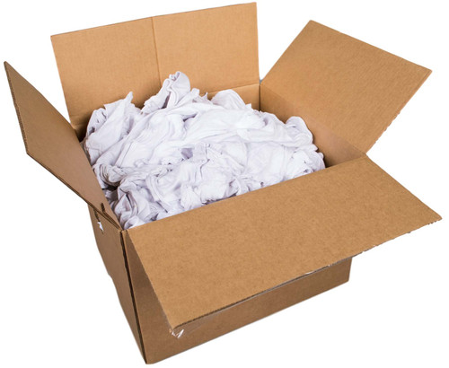 Box of White Cotton Rags, 25 lbs - Rocket Supply - Concrete and Stone Tool Supply Store