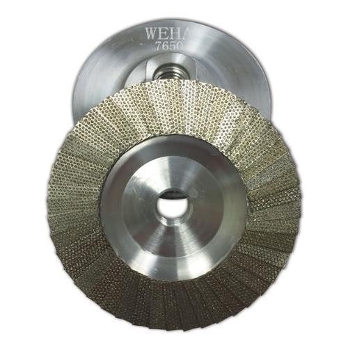 "Weha 4"" Flap Diamond Cup Wheel - Rocket Supply - Concrete and Stone Tool Supply Store"