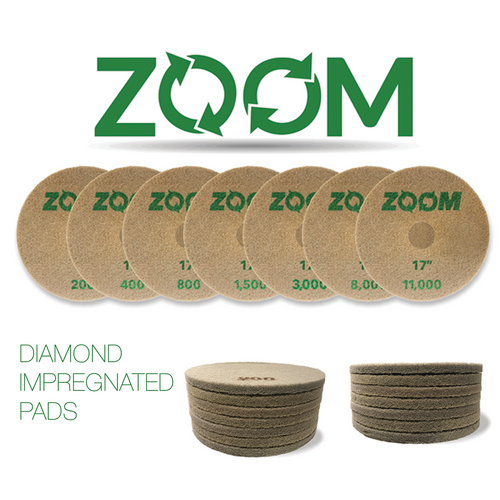 Stone Pro Zoom Diamond Impregnated Pads - Rocket Supply - Concrete and Stone Tool Supply Store