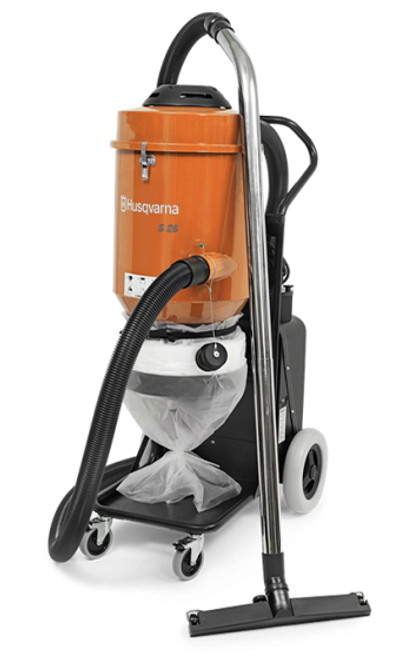 Husqvarna S26 Vacuum Rental - Rocket Supply - Concrete and Stone Tool Supply Store