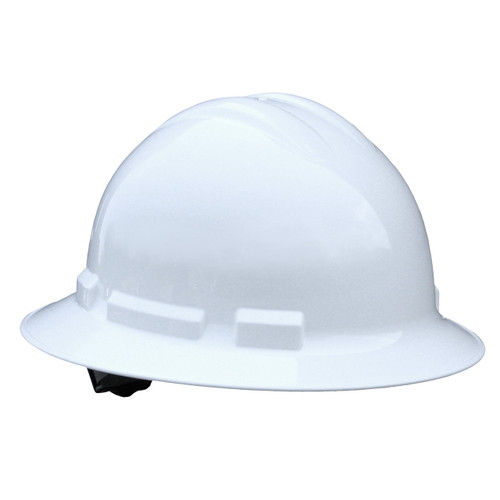Radians Quartz Full Brim Style Hard Hat - White - Rocket Supply - Concrete and Stone Tool Supply Store