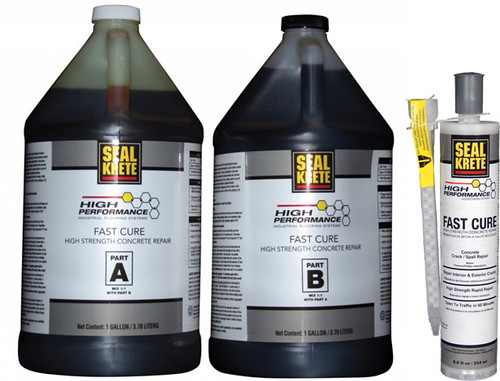 Seal Krete Fast Cure Crack Repair - 22 oz Cartridge - Rocket Supply - Concrete and Stone Tool Supply Store