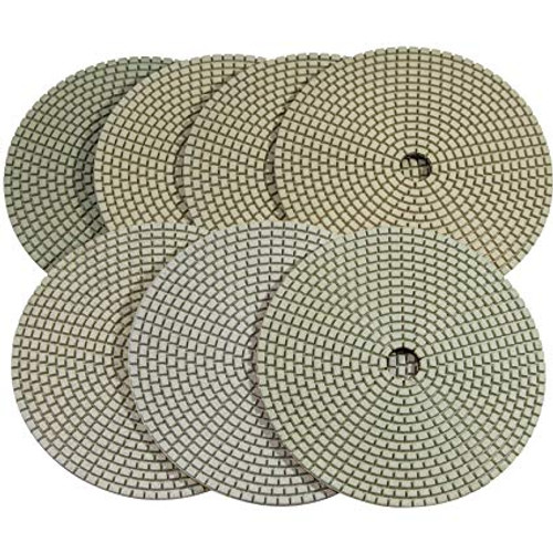 Dry Concrete Polish Pads - Concrete Countertop Polishing Kit - Rocket Supply - Concrete and Stone Tool Supply Store