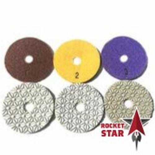 3 Step Rocket Star Quartz and Granite Polishing Kit Without Grinder