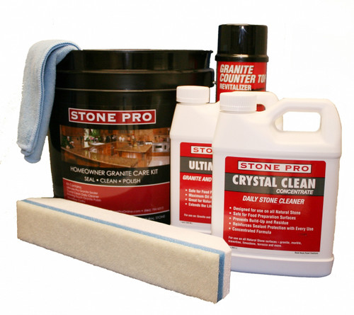 Stone Pro Ultimate Home Care Kit for Stone and Quartz Countertops