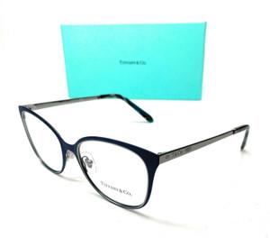 Tiffany TF1130 6129 Dark Blue Women Square Demo Lens Eyeglasses Frame 52-17