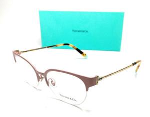Tiffany TF1133 6125 Matte Pink Women Oval Demo Lens Eyeglasses Frame 53-17