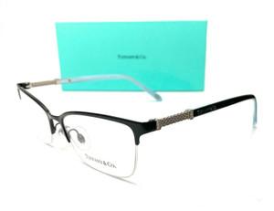 Tiffany TF1111B 6097 Black Blue Women Cat Eye Demo Lens Eyeglasses Frame 53 mm
