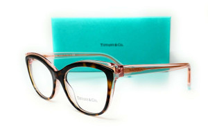 Tiffany & co. TF2192F 8287 Havana Transparent Pink Women Eyeglasses 54mm