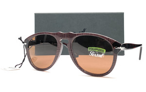 PERSOL PO0649 1091AN Brown Prince Brown Polarized Men's Sunglasses 54 mm