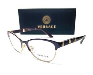 Versace VE1233Q 1418 Eggplant Pale Gold Women Eyeglasses 53mm