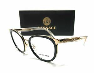 Versace VE1249 1252 Black Gold Demo Lens Women Phantos Eyeglasses Frame 52-18