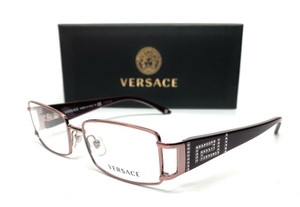 Versace VE1163B 1333 Purple Reddish Demo Lens Women's Rectangle Eyeglasses 52-16