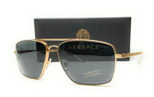 VERSACE VE2216 100287 Gold Grey Men's Pillow Sunglasses 61mm