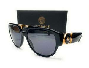Versace VE4371 GB1 81 Black Men's Phantos Polarized Sunglasses 58 mm