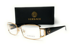 VERSACE VE1163M 1252 Pale Gold Demo Lens Women Rectangle Eyeglasses 52mm