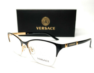 VERSACE VE1218 1342 Black Gold Women's Eyeglasses Frame 53mm