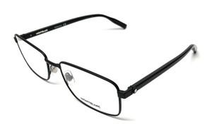 MONT BLANC MB0016O 001 Black Men's Authentic Eyeglasses Frame 57mm