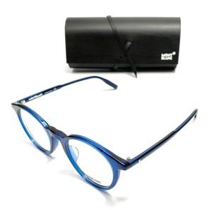 MONT BLANC MB0009O 007 Blue Men's Authentic Eyeglasses Frame 50mm