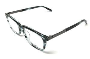 Mont Blanc MB 0025OA 004 Blue Havana Men's Authentic Eyeglasses Frame 56-17