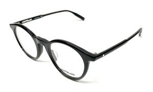 Mont Blanc MB0009O 001 Black Men's Authentic Eyeglasses Frame 48-22