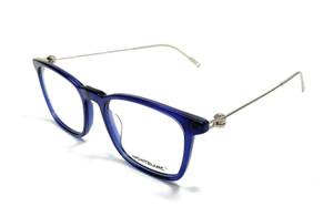 MONT BLANC MB0005O 004 Blue Men's Authentic Eyeglasses Frame 52mm B9