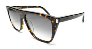 SAINT LAURENT SL 1/F 003 Havana Unisex Authentic Sunglasses 58-16
