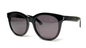 SAINT LAURENT SL 101k 003 Black Silver Grey Women's Sunglasses 55mm B7