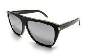 Saint Laurent SL 1 008 Black Unisex Authentic Sunglasses 59-13