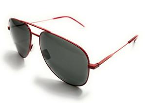 Saint Laurent CLASSIC 11 039 Red Metal Unisex Authentic Sunglasses 59-14