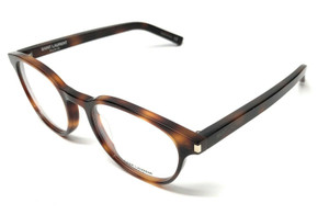 Saint Laurent CLASSIC 10 006 Havana Unisex Authentic Eyeglasses Frame 50-19