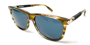 MONT BLANC MB0031S 007 Havana Men's Authentic Sunglasses 57-18