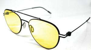 MONT BLANC MB0001S 009 Black Men's Authentic Sunglasses 56-19