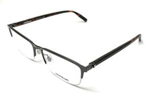 Mont Blanc MB0015O 005 Ruthenium Men's Authentic Eyeglasses Frame 58 mm