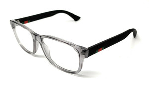 GUCCI GG0011O 007 Grey Demo Lens Men's Eyeglasses Frame 55mm