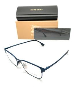 Burberry BE 1332 1288 Blue Rubber Men's Authentic Eyeglasses Frame 54-17