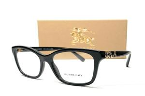 BURBERRY BE2249 3001 Black Demo Lens Women's Eyeglasses 52 mm