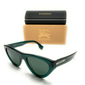 Burberry BE 4285 379571 Green Women Authentic Square Sunglasses 52-20