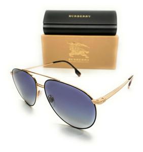 Burberry BE 3108 10174L Matte Black Men's Authentic Pilot Sunglasses 60-14