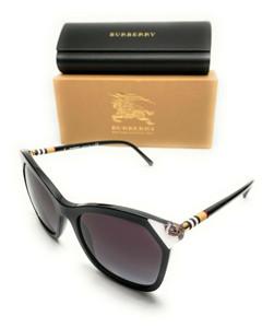 Burberry BE 4263 38458G Black Women's Authentic Sunglasses 54-19