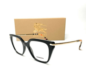 Burberry BE2310 3757 Black Demo Lens Women Square Eyeglasses 50mm