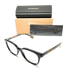 Burberry BE 2291 3757 Black Women's Authentic Eyeglasses Frame 53-17